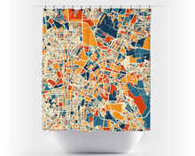 Bangalore Map Shower Curtain - india Shower Curtain - Chroma Series