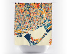 Toronto Map Shower Curtain - canada Shower Curtain - Chroma Series