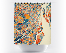 Montreal Map Shower Curtain - canada Shower Curtain - Chroma Series