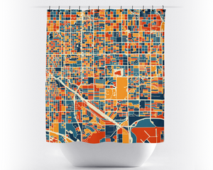 Tucson Map Shower Curtain - usa Shower Curtain - Chroma Series