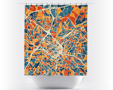 Charlotte Map Shower Curtain - usa Shower Curtain - Chroma Series