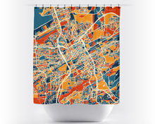 Birmingham AB Map Shower Curtain - usa Shower Curtain - Chroma Series