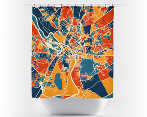 York Map Shower Curtain - uk Shower Curtain - Chroma Series