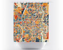 Fort Lauderdale Map Shower Curtain - usa Shower Curtain - Chroma Series