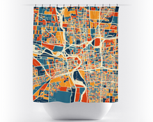 Columbus Map Shower Curtain - usa Shower Curtain - Chroma Series