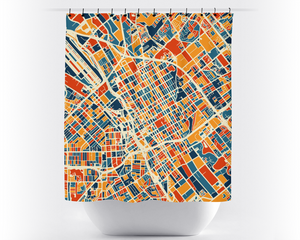 San Jose Map Shower Curtain - usa Shower Curtain - Chroma Series