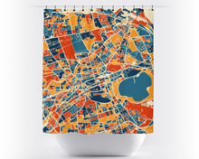 Edinburgh Map Shower Curtain - uk Shower Curtain - Chroma Series