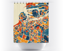 Malmo Map Shower Curtain - sweden Shower Curtain - Chroma Series