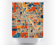 South Bend Map Shower Curtain - usa Shower Curtain - Chroma Series