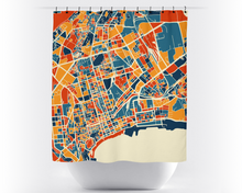 Baku Map Shower Curtain - azerbaijan Shower Curtain - Chroma Series