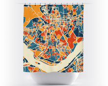Seoul Map Shower Curtain - south korea Shower Curtain - Chroma Series