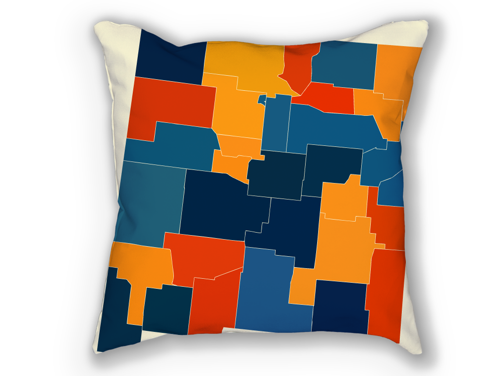 New Mexico Map Pillow - NM Map Pillow 18x18