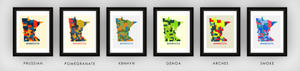 Minnesota Map Print - Full Color Map Poster