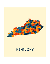 Kentucky Map Print - Full Color Map Poster