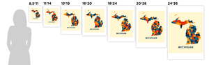 Michigan Map Print - Full Color Map Poster