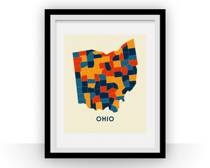 Ohio Map Print - Full Color Map Poster