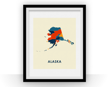 Alaska Map Print - Full Color Map Poster