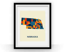 Nebraska Map Print - Full Color Map Poster