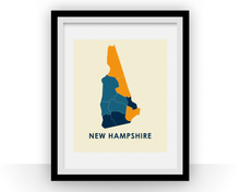 New Hampshire Map Print - Full Color Map Poster
