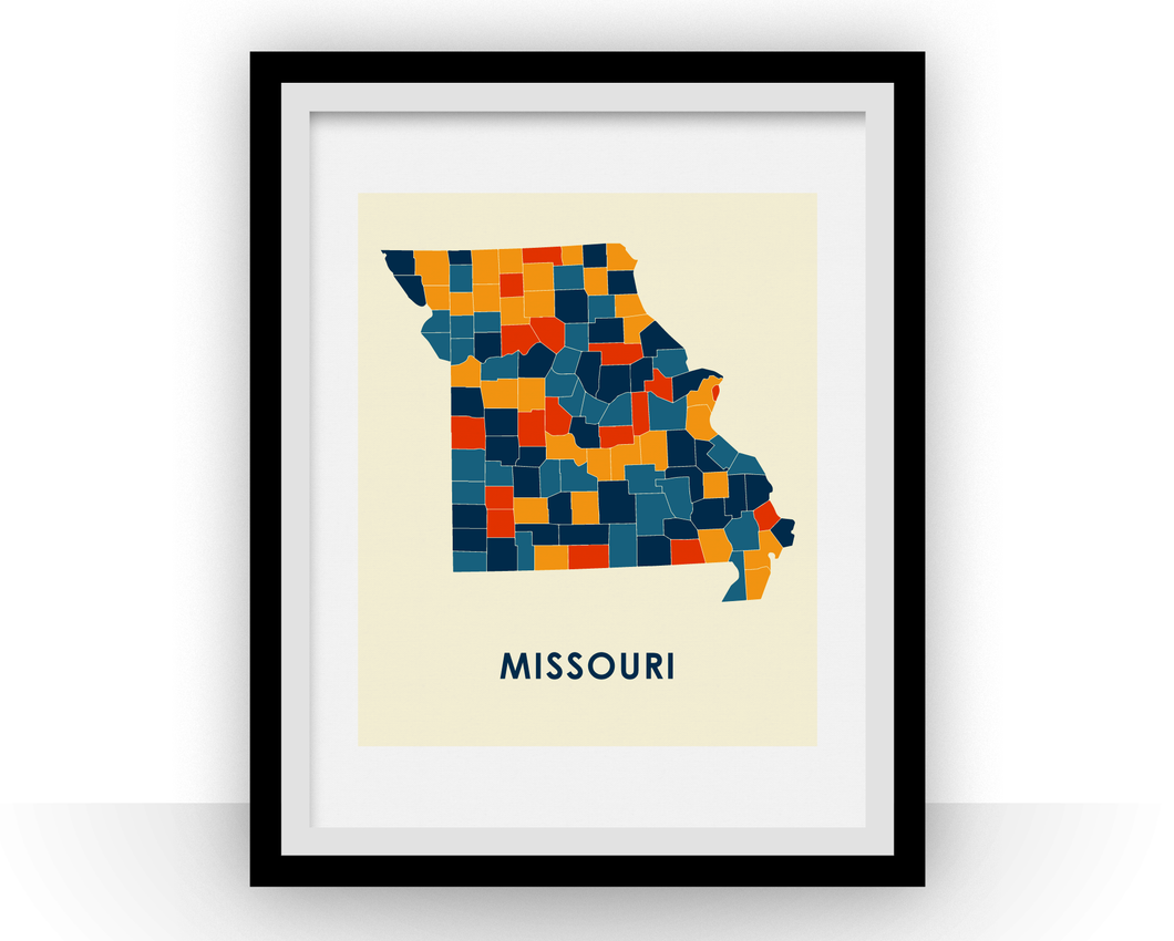 Missouri Map Print - Full Color Map Poster