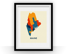 Maine Map Print - Full Color Map Poster