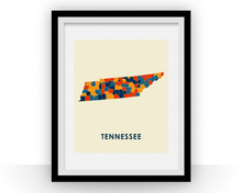 Tennessee Map Print - Full Color Map Poster