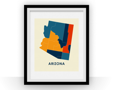 Arizona Map Print - Full Color Map Poster