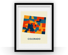 Colorado Map Print - Full Color Map Poster