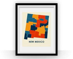 New Mexico Map Print - Full Color Map Poster