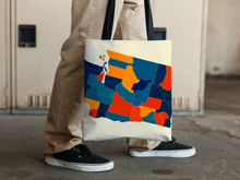 Washington Map Tote Bag - WA Map Tote Bag 15x15