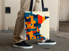 Minnesota Map Tote Bag - MN Map Tote Bag 15x15