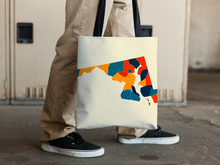 Maryland Map Tote Bag - MD Map Tote Bag 15x15