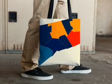 Connecticut Map Tote Bag - CT Map Tote Bag 15x15