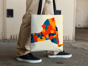 New York Map Tote Bag - NY Map Tote Bag 15x15