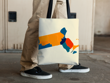 Massachusetts Map Tote Bag - MA Map Tote Bag 15x15