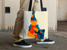 Idaho Map Tote Bag - ID Map Tote Bag 15x15