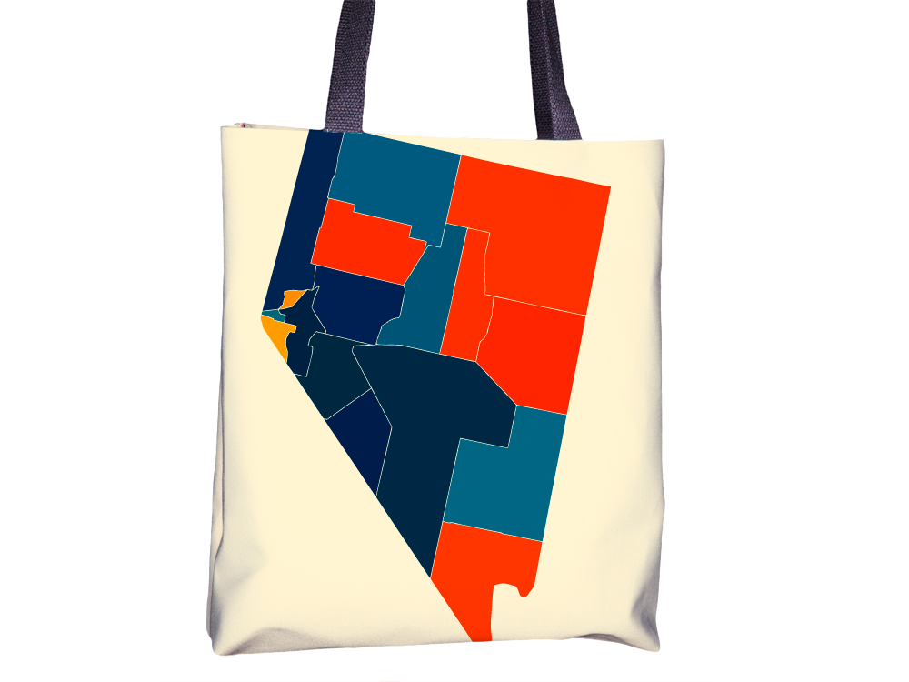 Nevada Map Tote Bag - NV Map Tote Bag 15x15