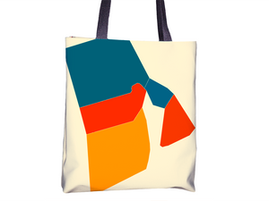 Rhode Island Map Tote Bag - RI Map Tote Bag 15x15