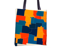 New Mexico Map Tote Bag - NM Map Tote Bag 15x15