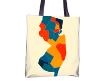 New Jersey Map Tote Bag - NJ Map Tote Bag 15x15