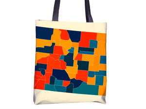Colorado Map Tote Bag - CO Map Tote Bag 15x15