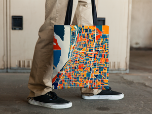 Memphis Map Tote Bag - Tennessee Map Tote Bag 15x15