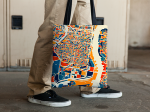 Philadelphia Map Tote Bag - Philly Map Tote Bag 15x15