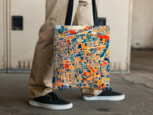 Jakarta Map Tote Bag - Indonesia Map Tote Bag 15x15