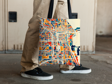 Chicago Map Tote Bag - Illinois Map Tote Bag 15x15