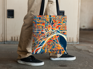 St Paul Map Tote Bag - Minnesota Map Tote Bag 15x15