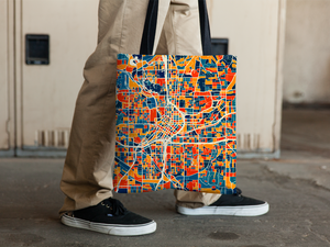 Atlanta Map Tote Bag - Georgia Map Tote Bag 15x15