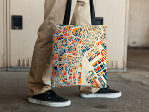 Tokyo Map Tote Bag - Japan Map Tote Bag 15x15