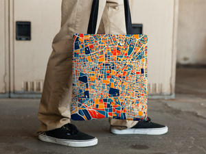 Tehran Map Tote Bag - Iran Map Tote Bag 15x15