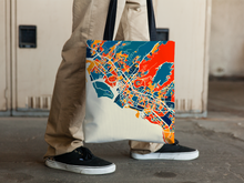 Honolulu Map Tote Bag - Hawaii Map Tote Bag 15x15